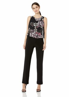 Nine West Women's Overlay Bodice Jumpsuit