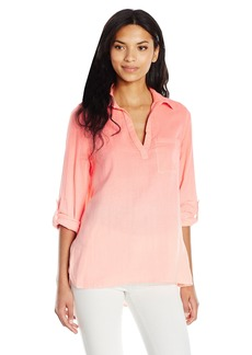 Nine West Women's Pearl Woven Popover Shirt  M