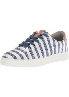 NINE WEST Women's PEREO Sneaker Dark Blue-Off White/Multi Fabric  Medium US