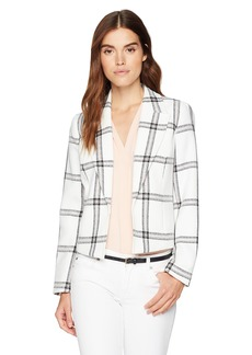 Nine West Women's Plaid KISS Front Jacket