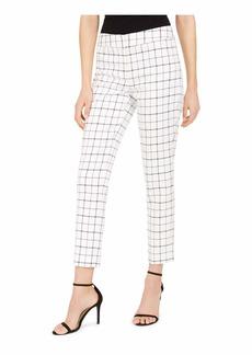 NINE WEST Women's Plaid Skinny Pant