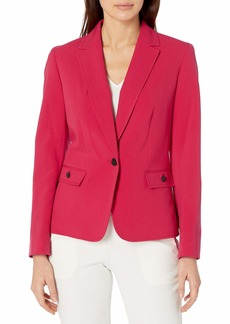 NINE WEST Women's 1 Button Stretch Notch Collar Jacket