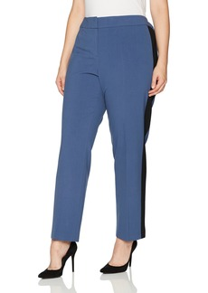 Nine West Women's Plus Size Bi Stretch Pant with Contrast Side Panel