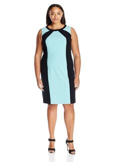 Nine West Women's Plus Size Color Block Dress