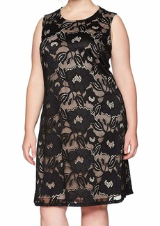 Nine West Women's Plus Size Floral Lace Dress  24W