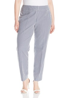 Nine West Women's Plus Size Gingham Pant