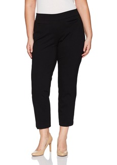 Nine West Women's Plus Size Light Weight Compression Ponte Pant