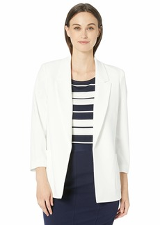 Nine West Women's Plus Size Notch Collar Crepe Jacket