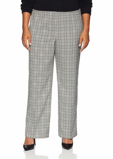 Nine West Women's Plus Size Plaid Classic Trouser Pant