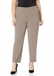 Nine West Women's Plus Size Pull ON Drapey Crepe Pant