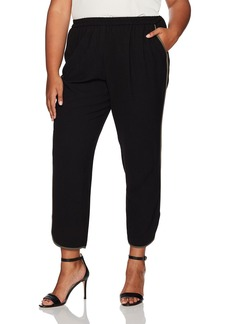 Nine West Women's Plus Size Pull On Pant With Binding
