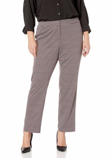 Nine West Women's Plus Size Skinny Houndstooth Pant