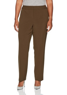 Nine West Women's Plus Size Solid Trouser Pant  W