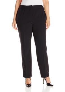 NINE WEST Women's Plus Size Stretch Crepe Trouser Pant  W