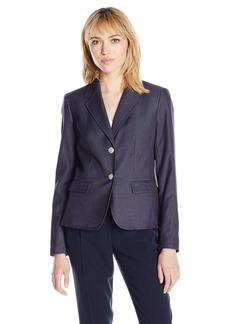 Nine West Women's Polished Denim 2 Button Jacket