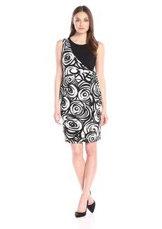 Nine West Women's Ponte Contrast Printed Dress