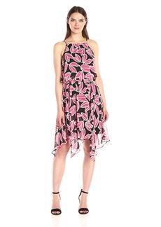 Nine West Women's Pop Over Dress with Hankerchief Hem