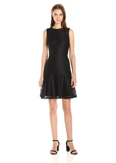 Nine West Women's Princess Seam Dress W/Flared Bottom