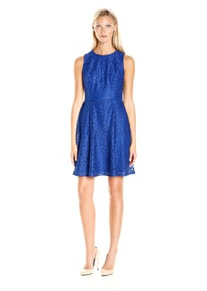 Nine West Women's Princess Seam Dress Withflared Bottom