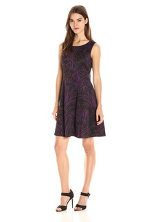 Nine West Women's Princess Seam Flare Dress
