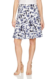 Nine West Women's Print A Line Skirt