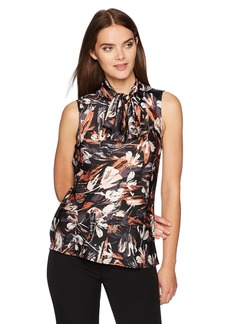 Nine West Women's Printed Bow Blouse  XL