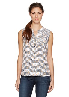 Nine West Women's Printed Button Front Cami