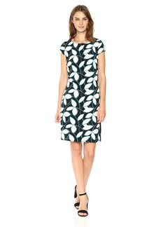 Nine West Women's Printed Cap Sleeve Dress