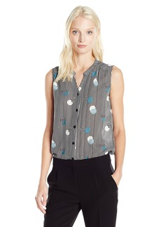 Nine West Women's Printed Cdc Button Front Cami