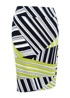 Nine West Women's Printed Crepe Slim Skirt