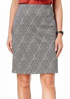 NINE WEST Women's Printed Slim Skirt with SELF Belt