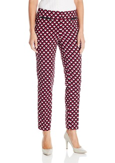 Nine West Women's Printed Twill Pant