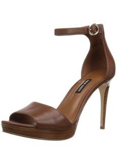 Nine West Women's QUERREY Leather Heeled Sandal