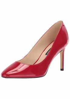NINE WEST Women's Round Toe Pump Medium red