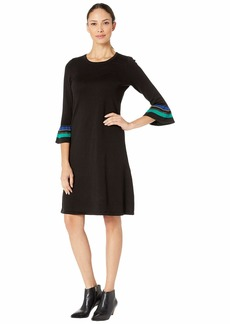 Nine West Women's Ruffled Sleeve Sweater Dress  M