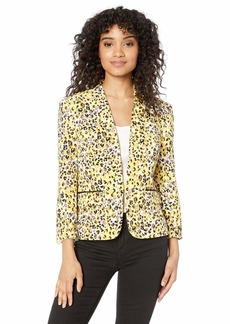 Nine West Women's Scuba Crepe Printed Jacket