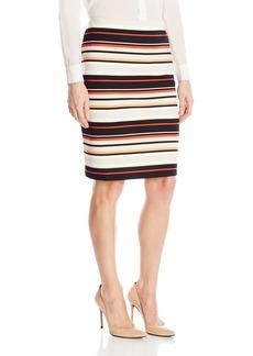 Nine West Women's Scuba Pattern Skirt