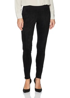 Nine West Women's Seamed Pant With Suede Front and Ponte Back