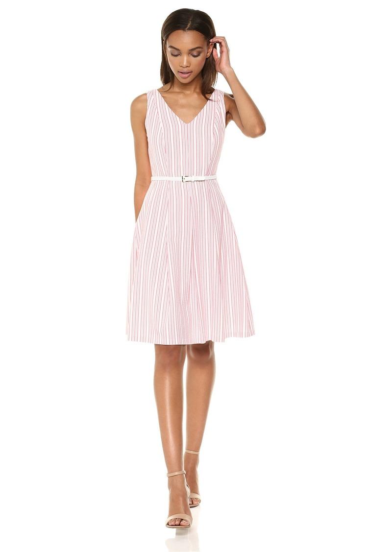 Nine West Nine West Women S Seersucker Dress With Tassle Belt Dresses