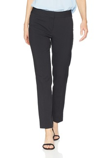 Nine West Women's Seersucker Skinny Lined Trouser Pant