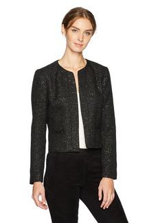 Nine West Women's Sequin Tweed Jacket