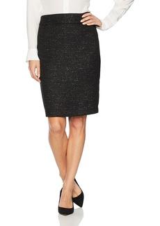 Nine West Women's Sequin Tweed Skirt