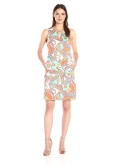 Nine West Women's Shift Dress with Side Panels and Front Pockets