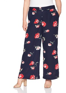 Nine West Women's Size Plus Floral Printed Pant