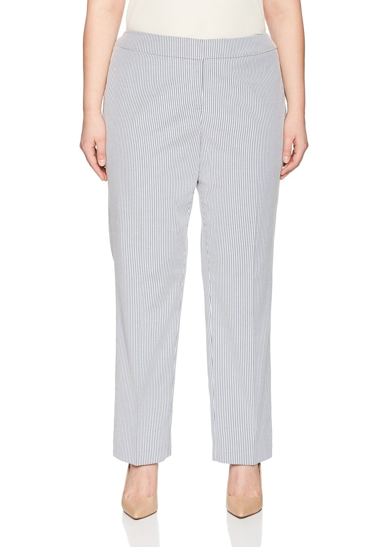 Nine West Women's Size Plus Mini Stripe Trouser Pant