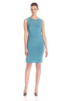 Nine West Women's Sleeveless Bodycon Dress with Key Hole Detail
