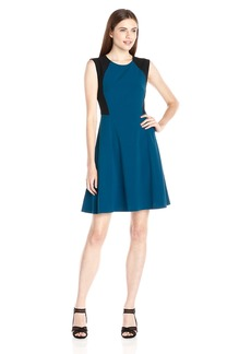 Nine West Women's Sleeveless Color Block Dress