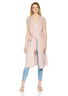 Nine West Women's Sleeveless Crepe Duster with TIE Detail  M