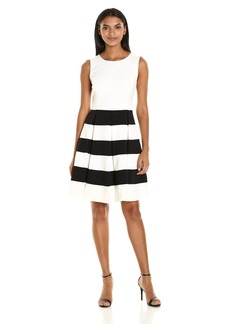 Nine West Women's Sleeveless Dress with Box Pleat