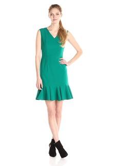 Nine West Women's Sleeveless Dress with Flounce Skirt